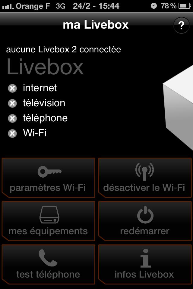 accès wifi orange