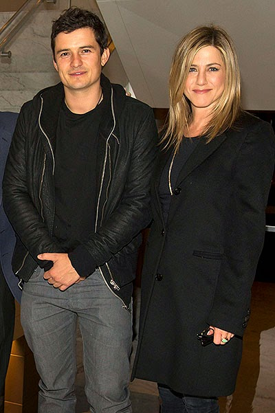 Orlando Bloom and Jennifer Aniston