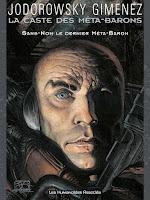 Portada de la novela gráfica La casta de los metabarones, en la que aparece Sin nombre, con la cara descubierta muy pálida.