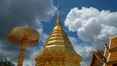 The golden mount, one of the most photographed parts of Wat Phra That Doi Suthep