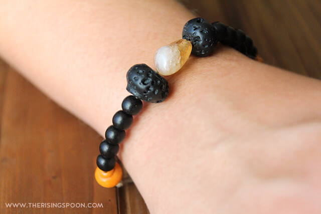 DIY Lava Rock Essential Oil Diffuser Bracelet