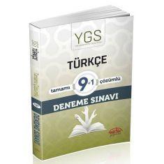 Editör YGS Türkçe 9+1 Çözümlü Deneme Sınavı
