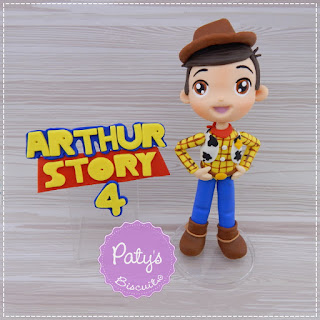 Topo de bolo Woody (Toy Story) - Festa Infantil - Paty's Biscuit