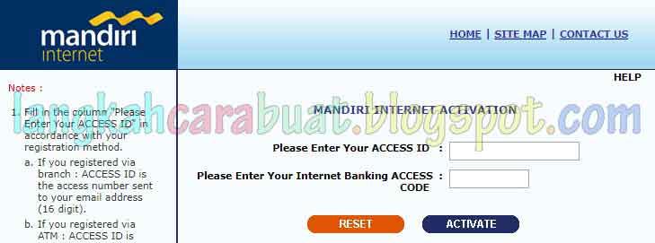 Cara Mendaftar Internet Banking Mandiri Secara Online