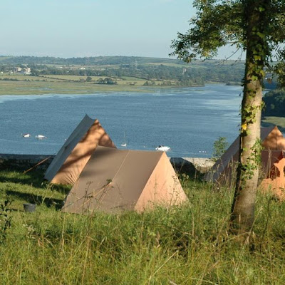 Tents with a beautiful view.