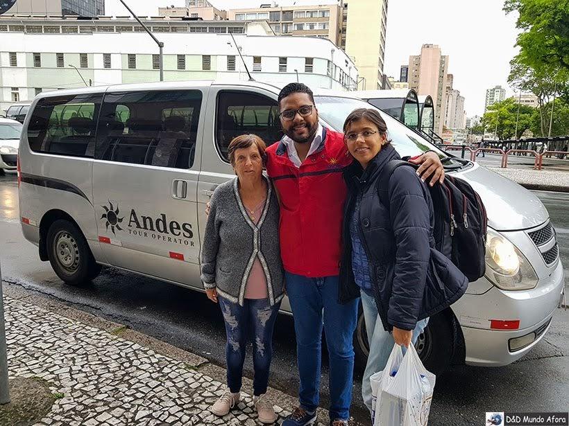 Andes Tur recepcionando o D&D Mundo Afora em Curitiba