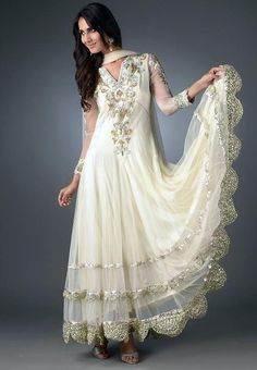 White Pakistani Bridal Wedding Dresses