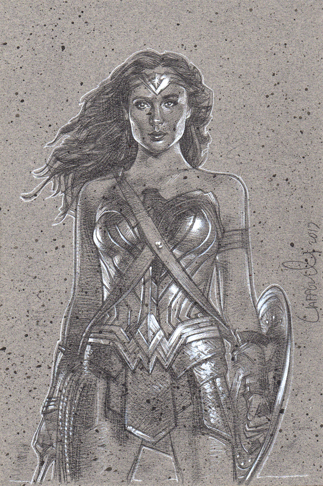 Gal Gadot Wonder Woman, Artwork© Jeff Lafferty