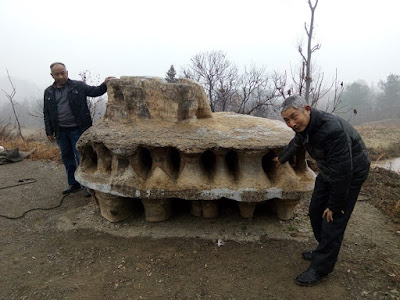 Mysterious 'UFO made of stone' found on Hubei mountain