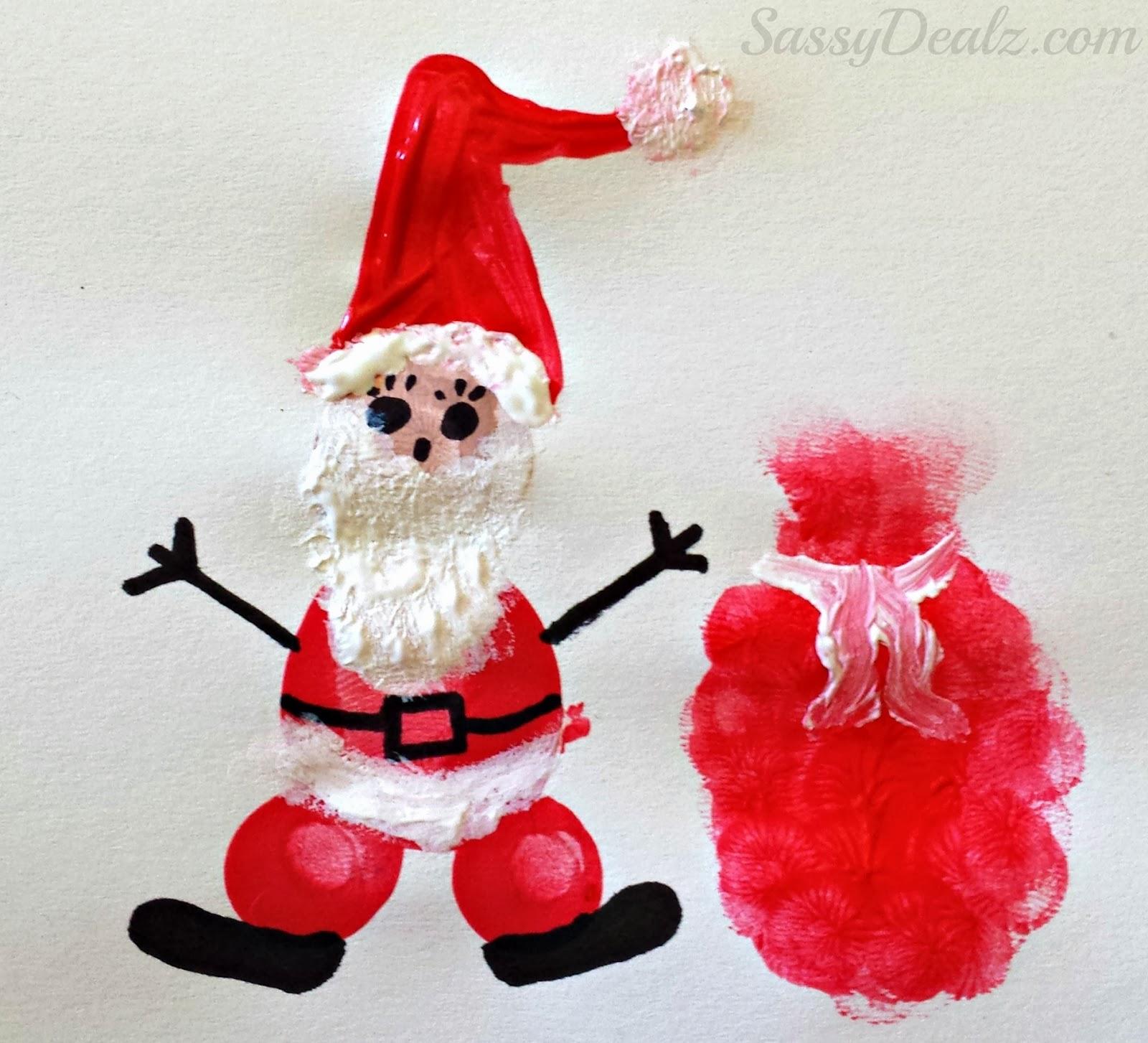 Christmas Amp Winter Fingerprint Craft Ideas For Kids