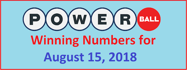 PowerBall Winning Numbers for Wednesday, 15 August 2018