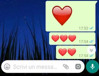 fare il cuore grande su whatsapp