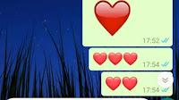Diversi modi di fare il Cuore su Whatsapp: grosso, colorato, che batte