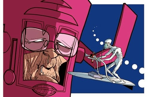 08-Fantastic-4-Silver-Surfer-Donald-Soffritti-Cartoon-Cartoonist-Superheroes-in-Old-Age-www-designstack-co