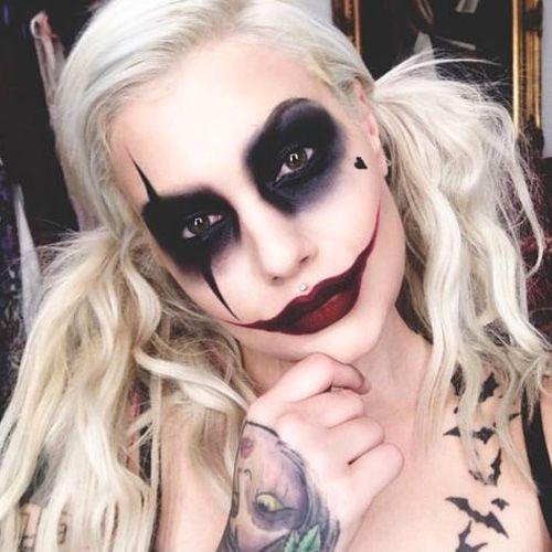 Maquilhagem Halloween Harley Quinn