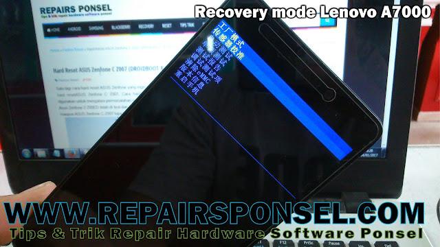 Cara Hard Reset Lenovo A7000 Buka pola kunci
