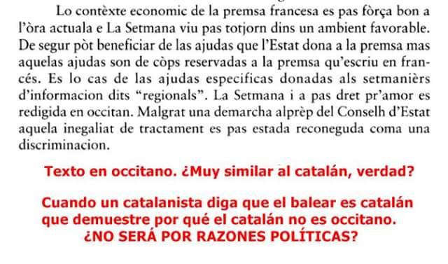 Occità, català, chapurriau, balear, valencià, Natxo del Rosset, no u enteng