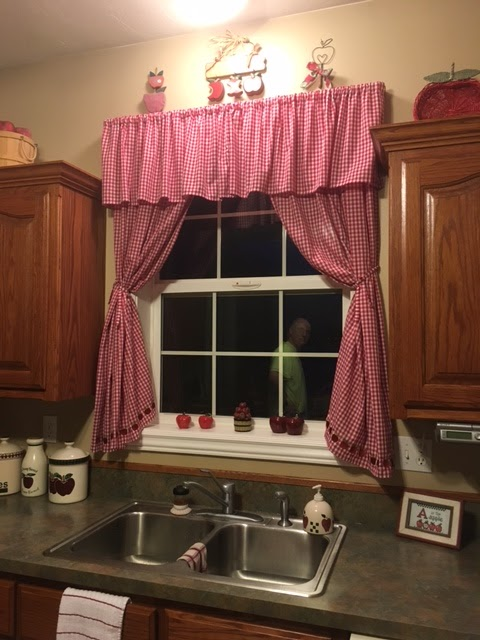Nice Red Gingham Curtains