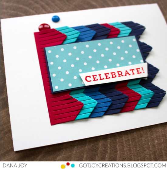 Chevron Fringe Die-namics - Dana Joy #mftstamps