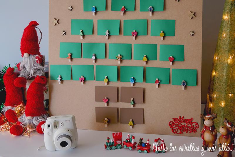 DIY advent calendar instax mini photo calendario de adviento fotos