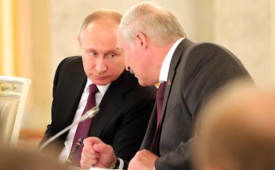 Vladimir Putin with President of Belarus Alexander Lukashenko.