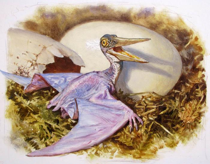 Gurney Journey Part 5 Pteranodon Hatchling Finish