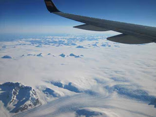 Flying Over Greenland.