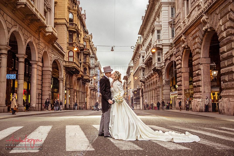 foto matrimonio sposi via XX Settembre Genova