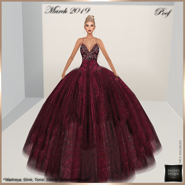 SASCHA'S DESIGNS - March 2019 FREE Gown for my members