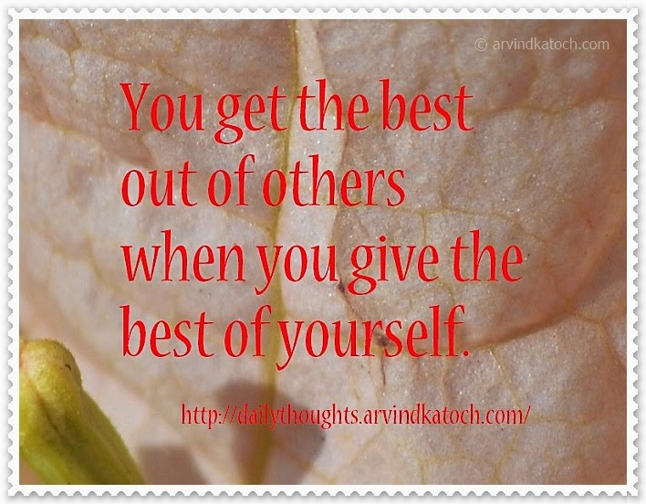 yourself, best, others, Daily Thought, Quote,