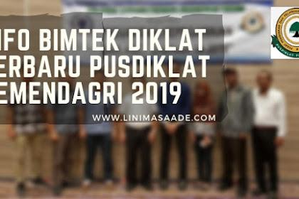 Info Bimtek Diklat Terbaru Pusdiklat Pemendagri 2019