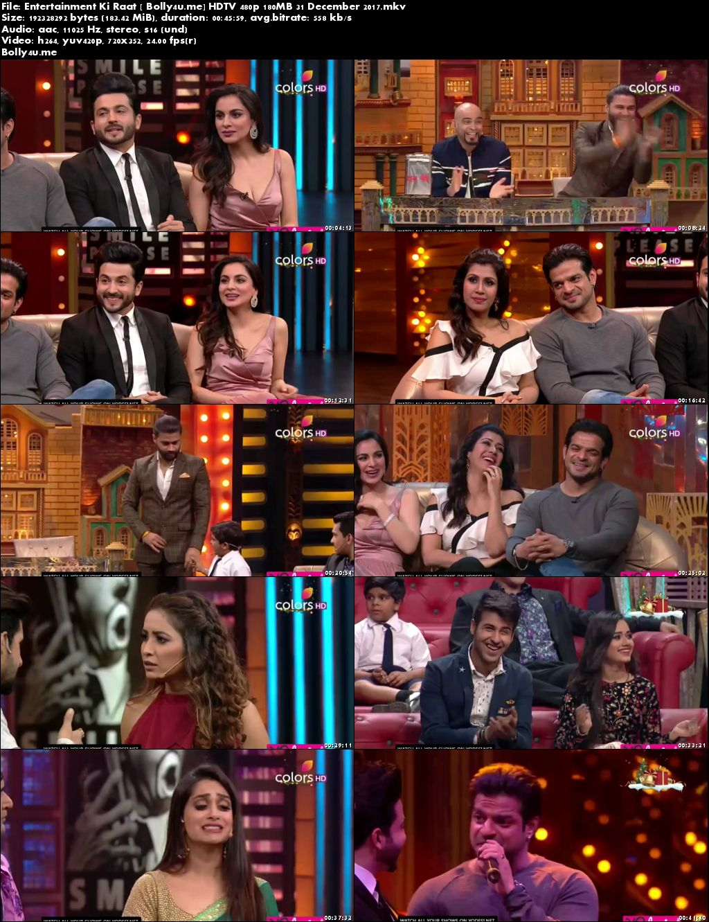Entertainment Ki Raat HDTV 480p 180MB 31 December 2017 Download