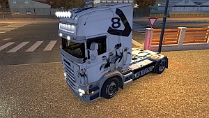 V8 Penguins skin for Scania RJL