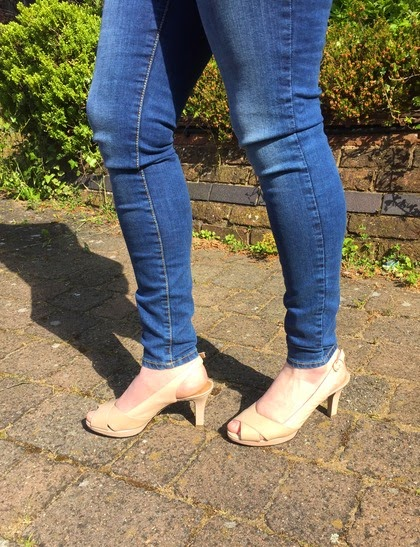 Morgan's Milieu | Magic Jeans!: Blue Mango Jeans and Nude Clarks Shoes