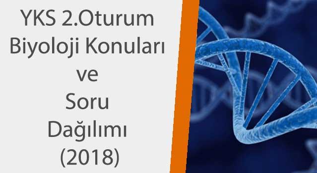 yks biyoloji konuları 2018