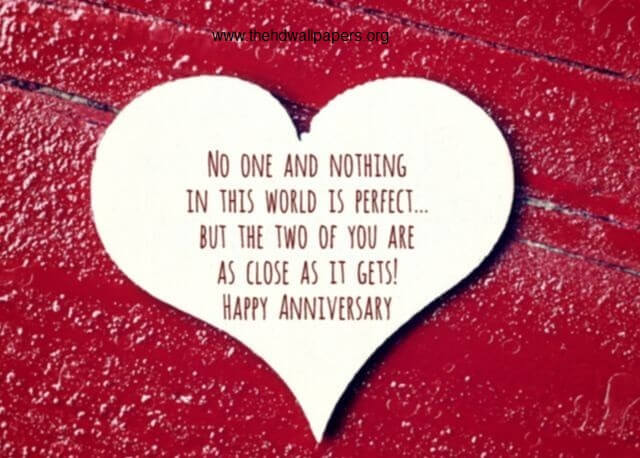 Happy Anniversary to Perfect Couple Heart Greeting Card