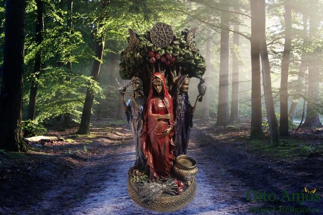 Estátua Grande Mãe - Deusa Tríplice