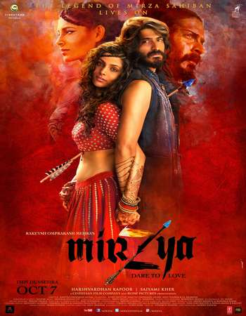 Poster Of Mirzya 2016 Hindi 400MB DVDScr 480p Watch Online Free Download downloadhub.net