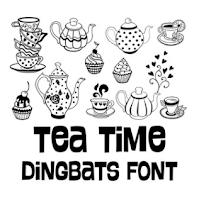 Tea Time Dingbats Font by Lori Whitlock