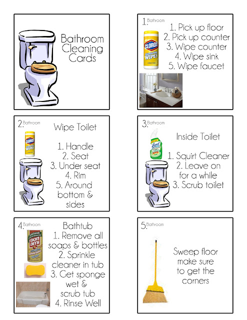 Picture Chore Charts for Kids