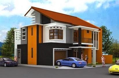 kombinasi warna cat rumah yang bagus dan unik untuk rumah