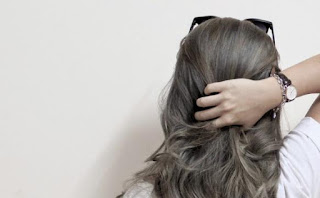 ash grey hairstyle