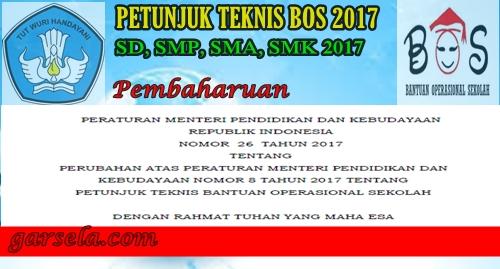 Permendikbud No 26 Tentang Juknis Pengelolaan Dana BOS terbaru 2017