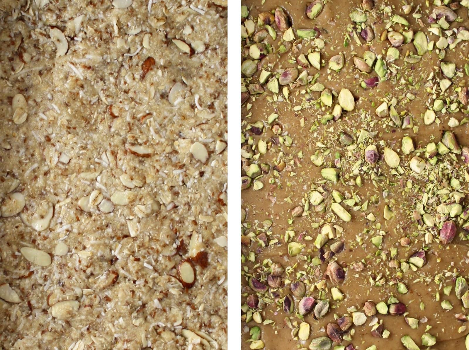 Ginger, Oat + Pistachio Bars (gf+df) | Sevengrams