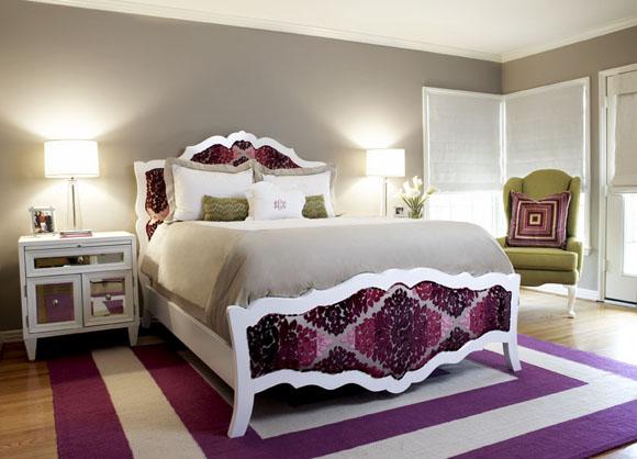 Beautiful Purple Master Bedrooms Diseño de Habi...