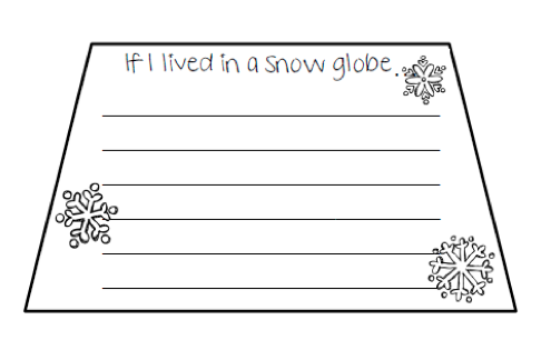 photo about Printable Globe Template identify Cost-free Snowman Composing Template