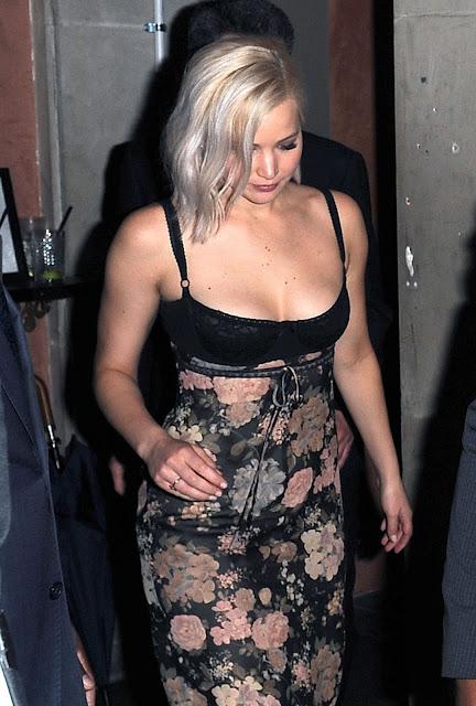 Jennifer Lawrence Night Out Style London