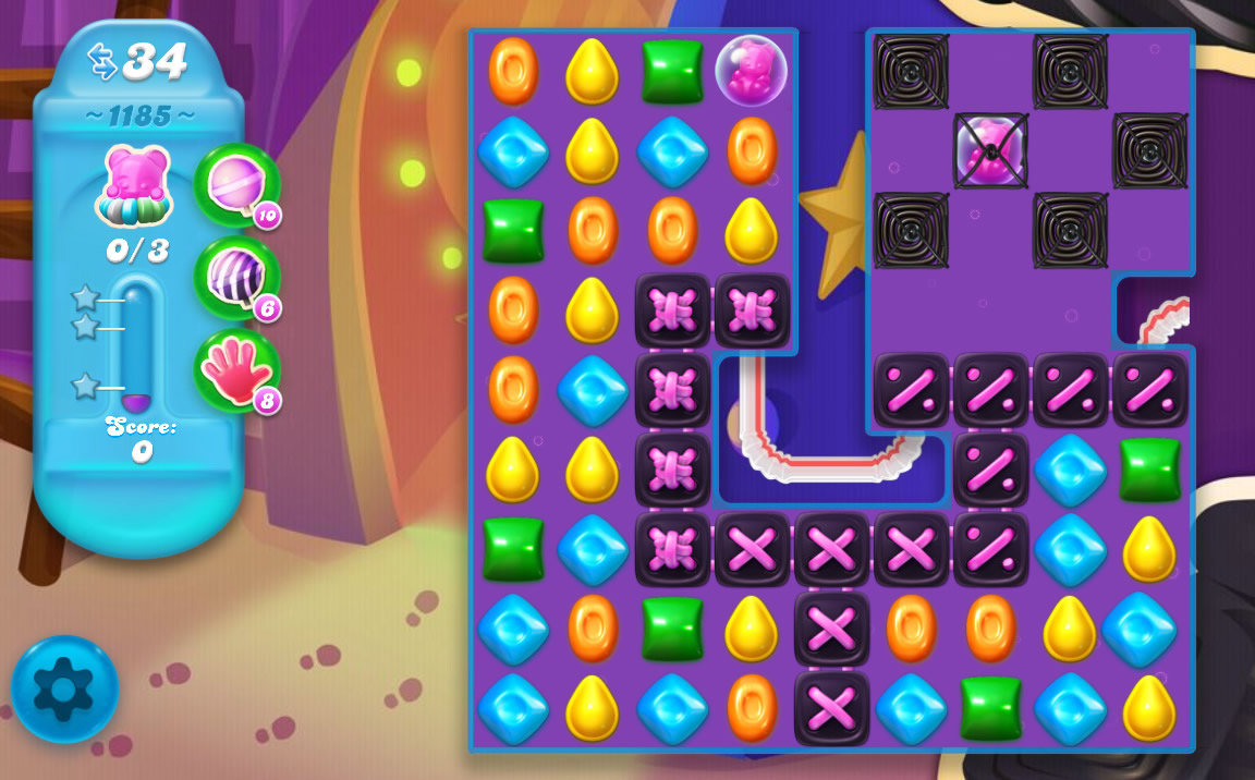 Candy Crush Soda Saga level 1185