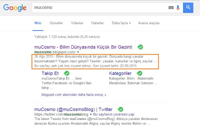 muCosmo google arama