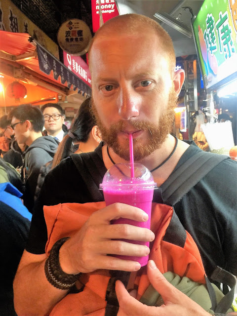 dragon fruit shake shilin night market taipei taiwan